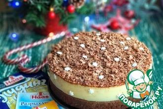 Рецепт: Шоколадно-ванильный пирог с пудингом