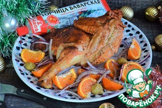 Рецепт: Пивная курица с горчицей и перцами