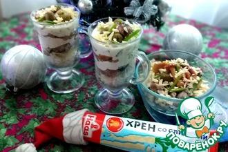 Рецепт: Салат с бараниной и маринованными грибами