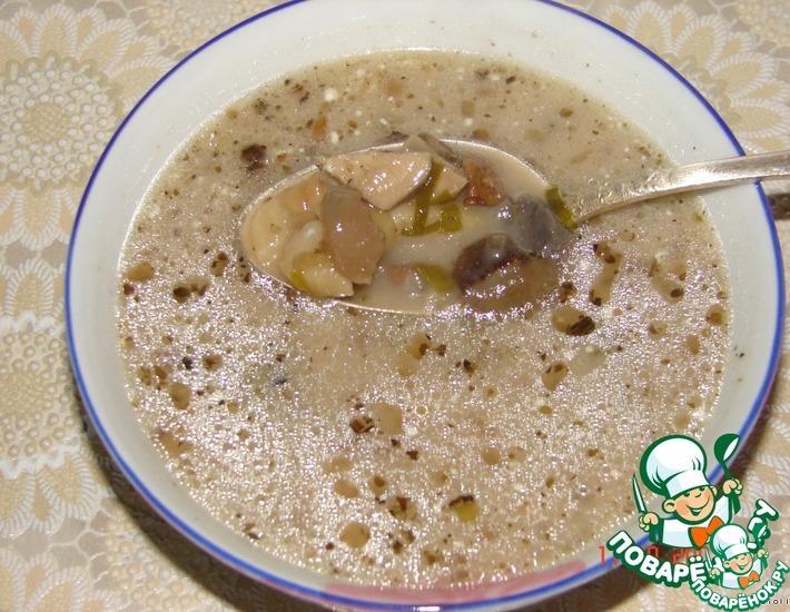 Рецепт: Мой грибной суп