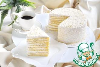 Рецепт: Торт Молочная девочка