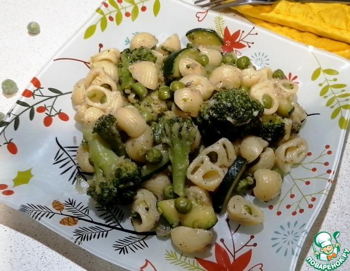 Рецепт: Паста с анчоусами и овощами