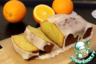 Рецепт: Апельсиновый кекс с глазурью