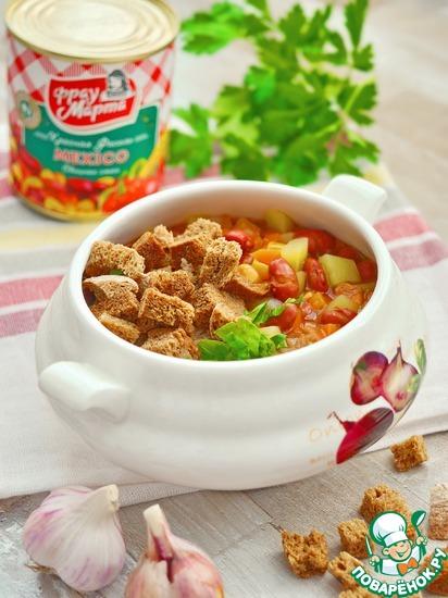 """Быстрый суп с овощной смесью """"Мехико"""""""