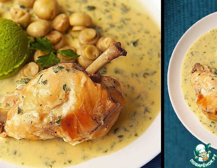 Рецепт: Кролик в горчичном соусе по-французски