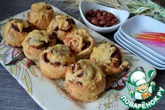 Рецепт: Закусочные рулеты с фасолью и беконом
