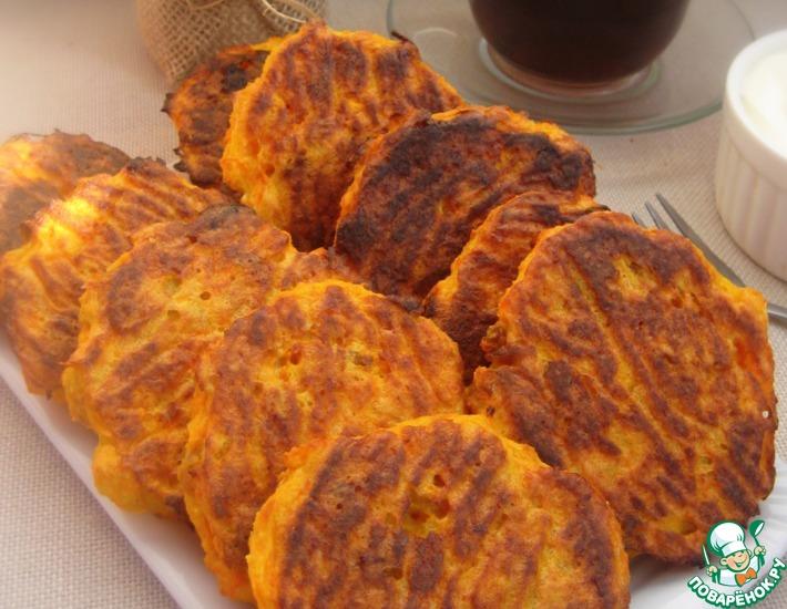 Рецепт: Морковные сырники