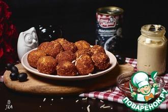 Рецепт: Сырные шарики с оливками