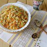 Острый салат из капусты и фасоли