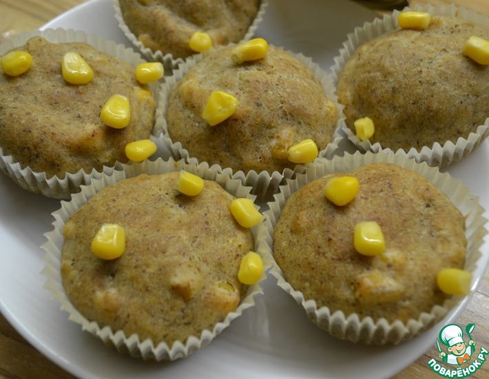 Рецепт: Закусочные кексы с кукурузой