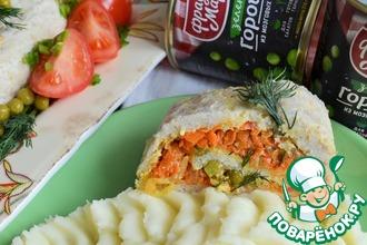 Рецепт: Рыбный рулет с овощами