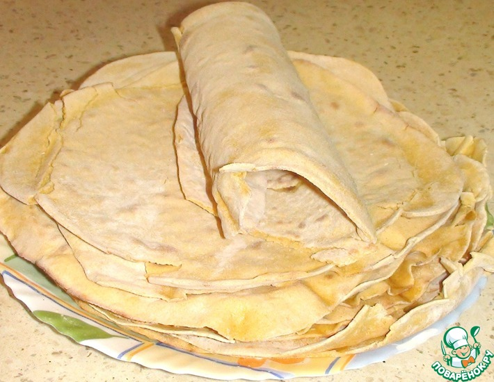 Рецепт: Кукурузная тортилья