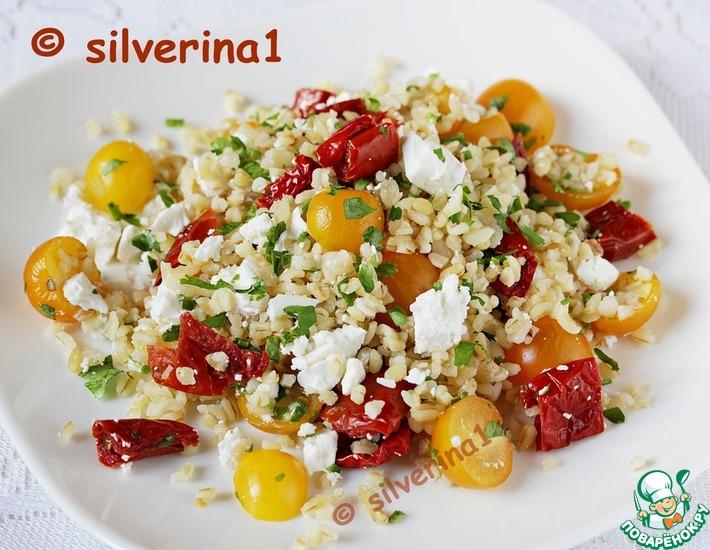 Рецепт: Булгур с томатами и фетой