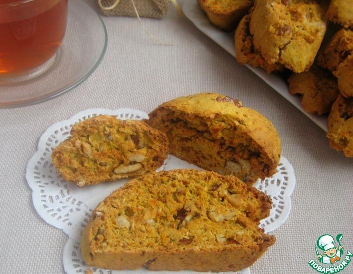Рецепт: Морковно-ореховые бискотти
