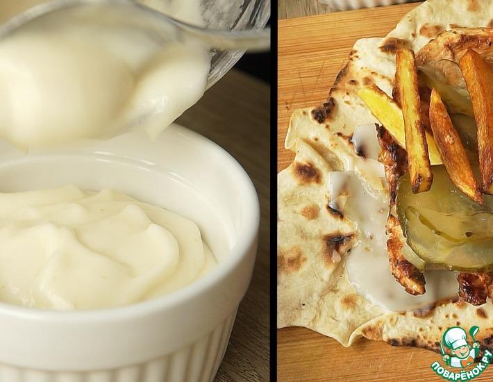 Рецепт: Ливанский чесночный соус Тум