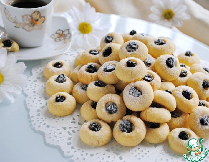 Рецепт: Простое песочное печенье