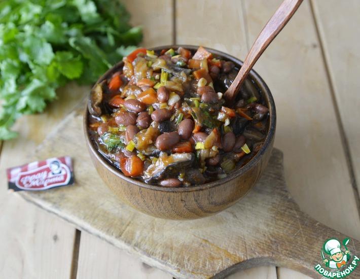 Рецепт: Овощное рагу с грибами и фасолью