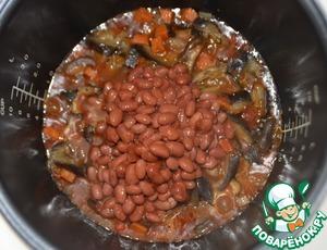 Овощное рагу с грибами и фасолью Перец сладкий красный