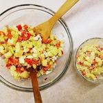 Картофельный салат с яйцом и овощами