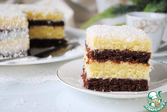 Простой торт из сгущёнки