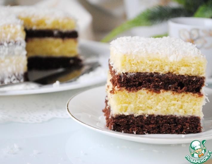 Рецепт: Простой торт из сгущёнки