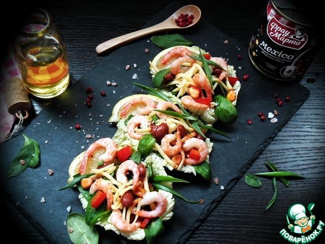 "Салат овощной с креветками ""Mexico"""
