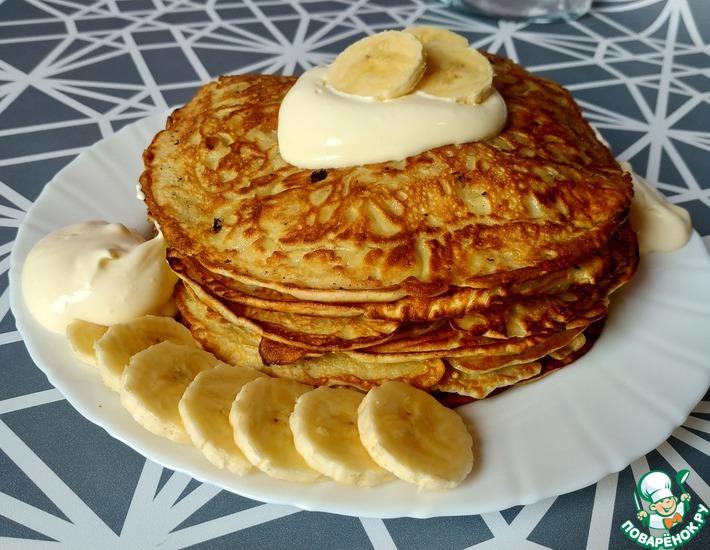 Рецепт: Банановые блинчики с соусом