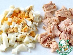 Салат из фасоли, тунца и капусты ингредиенты