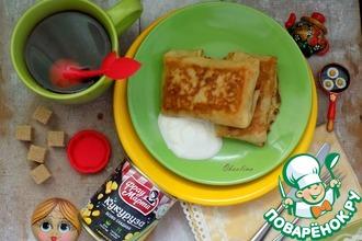 Рецепт: Кукурузные блины с овощами и яйцом