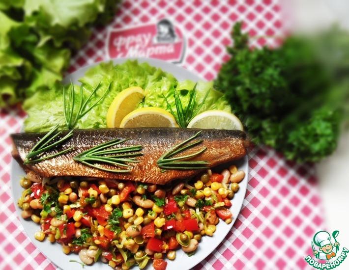 Рецепт: Овощной гарнир с рыбой