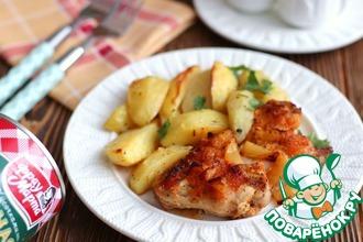 Рецепт: Куриные крылышки в чесночно-ананасовом соусе