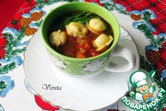 Рецепт: Суп с пельменями в узбекском стиле