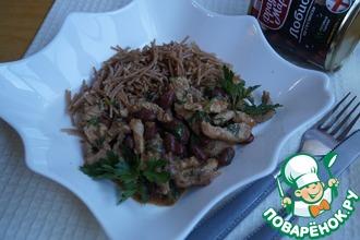 Рецепт: Поджарка из свинины с Лобио