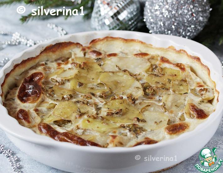 Рецепт: Картофельный гратен с оливками