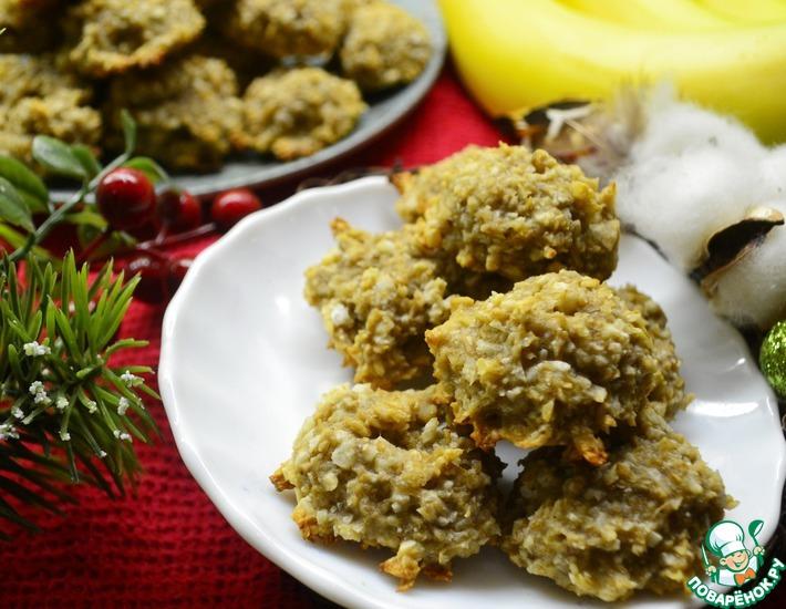 Рецепт: Баново-кокосовое овсяное печенье