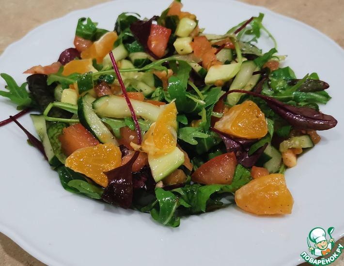 Рецепт: Легкий салат с мандаринами