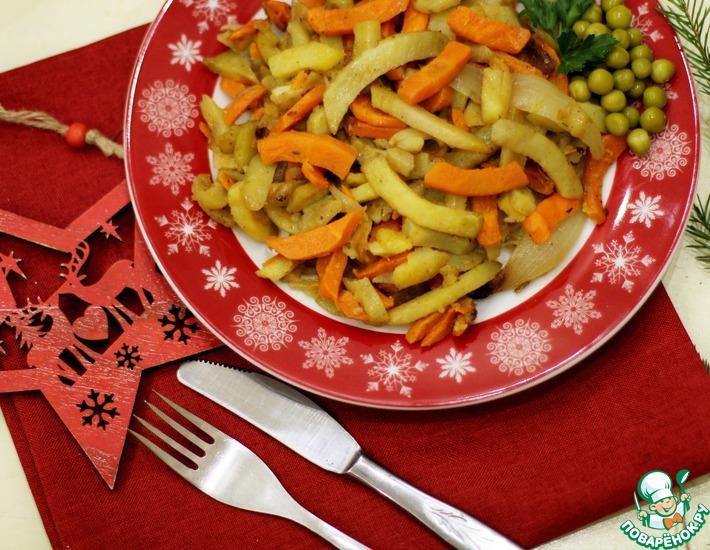 Рецепт: Овощи запечёные с секретом