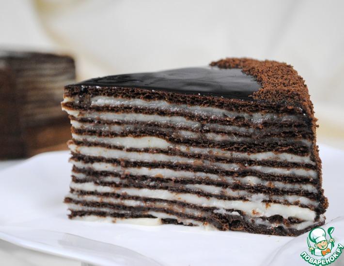 Рецепт: Шоколадный торт Спартак