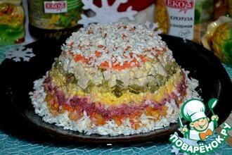 Рецепт: Салат Дамская шляпка