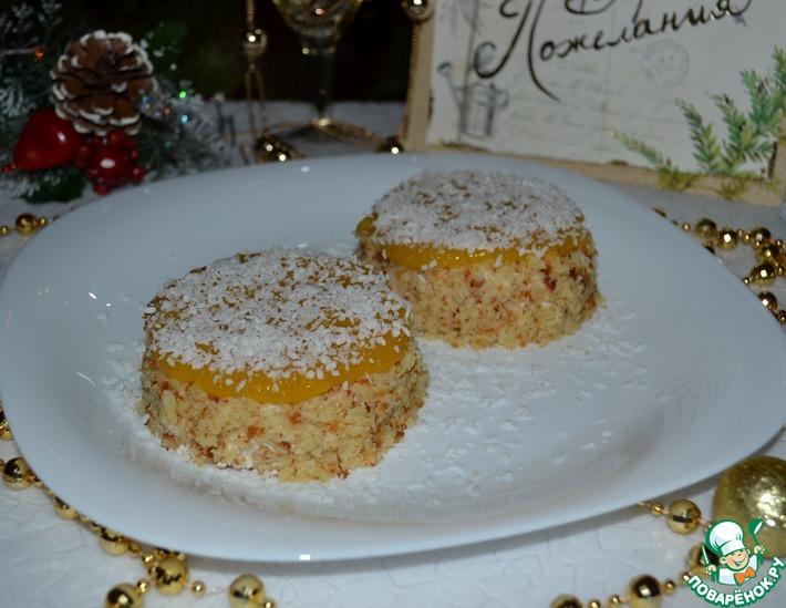 Десертные пирожные с янтарным топпингом