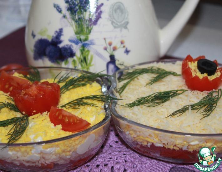 Рецепт: Салат Помидоры под снегом