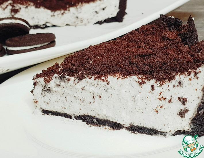 Рецепт: Чизкейк с печеньем Орео без выпечки