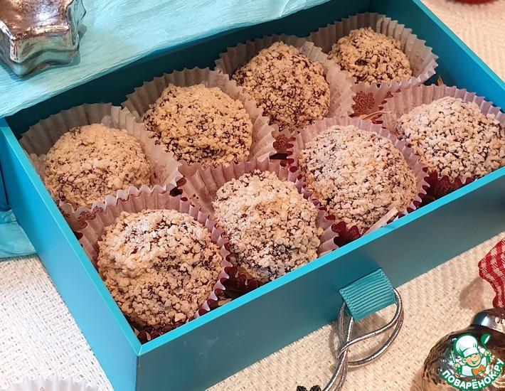 Рецепт: Конфеты шоколадные в вафельной крошке
