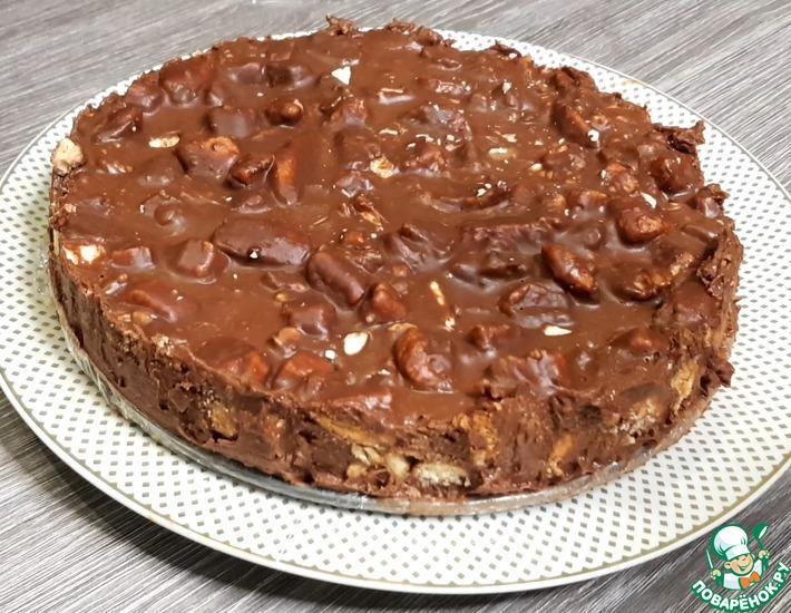 Рецепт: Торт без выпечки Шоколадное безумие
