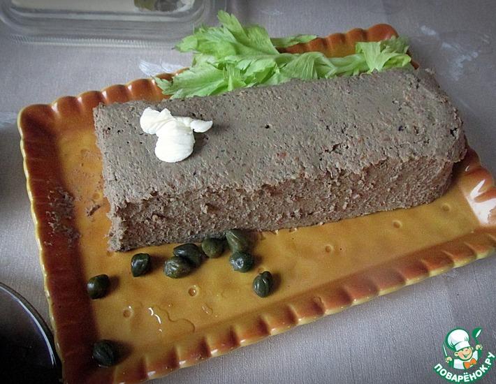 Рецепт: Печеночный паштет с шампиньонами и мадерой