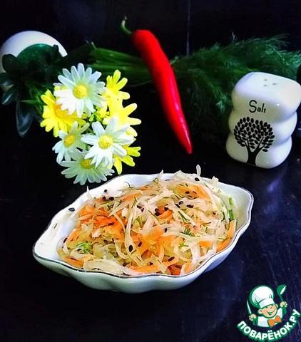 Капустный салат перечный