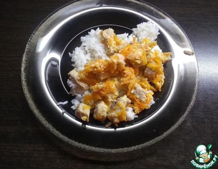 Рецепт: Свинина в сметано-чесночном соусе