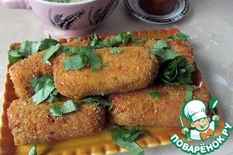 Рецепт: Картофельно-куриные пирожки