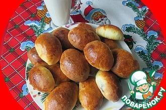 Рецепт: Пирожки из дрожжевого теста с крахмалом