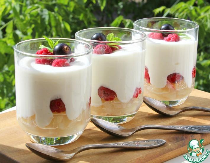 Рецепт: Творожный фруктово-ягодный десерт